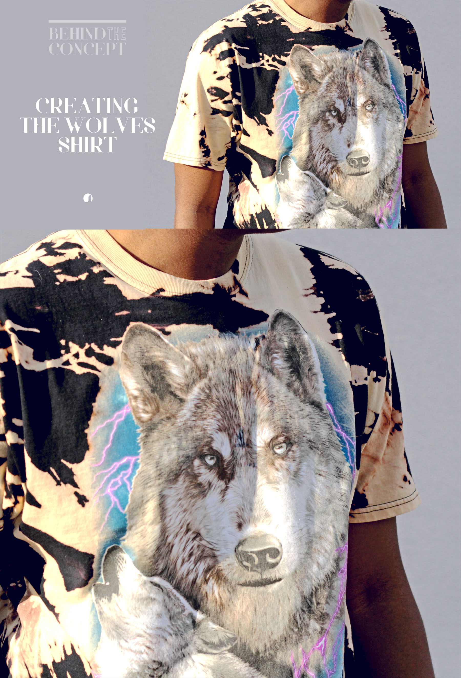 "Behind the Style Concept #64: How to Create the Bleached ""Knot-Pattern"" Wolves Tee"